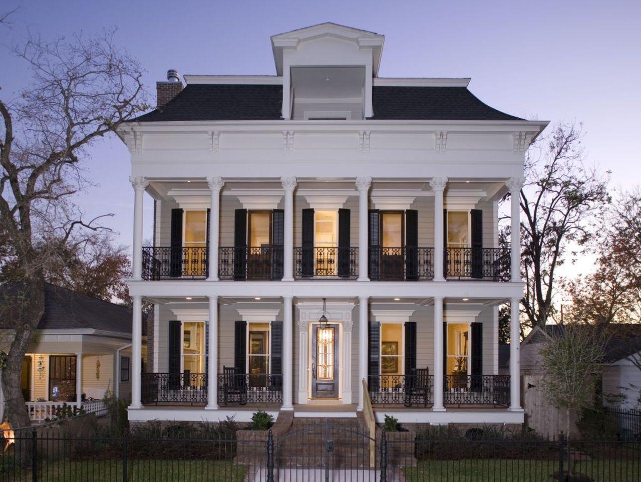 Portfolio creole design for Houston house elevation